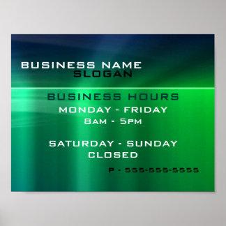 Generic Business - Shiny Green Metallic Hours Poster