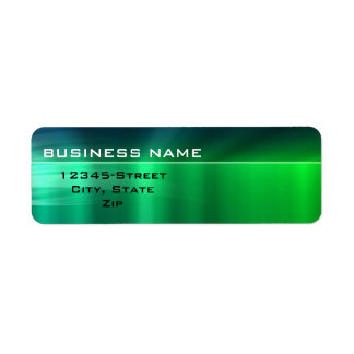Generic Business - Shiny Green Metallic Label