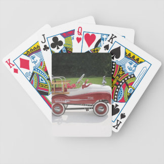 Generic Childs Metal Pedal Car Firetruck Car Bicycle Playing Cards