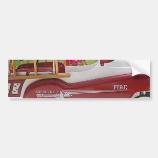 Generic Childs Metal Pedal Car Firetruck Car Bumper Sticker