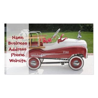 Generic Childs Metal Pedal Car Firetruck Car Business Card