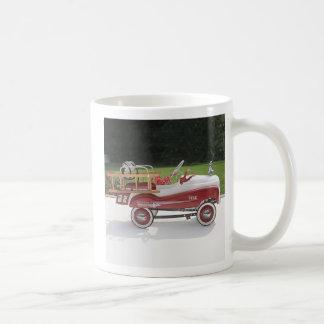 Generic Childs Metal Pedal Car Firetruck Car Classic White Coffee Mug