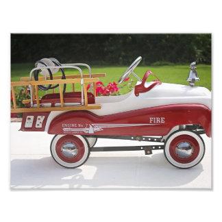 Generic Childs Metal Pedal Car Firetruck Car Photo Print