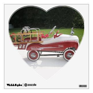 Generic Childs Metal Pedal Car Firetruck Car Wall Decal
