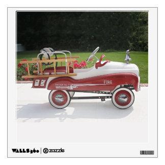 Generic Childs Metal Pedal Car Firetruck Car Wall Sticker