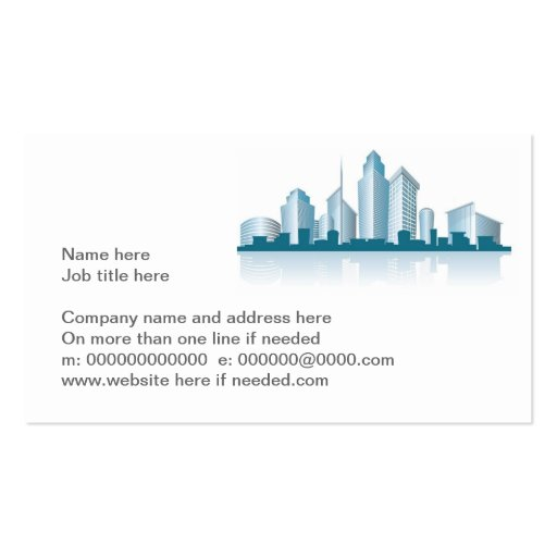 generic city skyline with offices and towers and s Double-Sided standard business cards (Pack of 100)