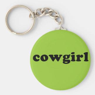 Generic COWGIRL T shirt Basic Round Button Keychain