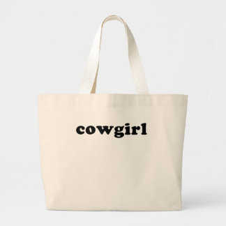 Generic COWGIRL T shirt Large Tote Bag