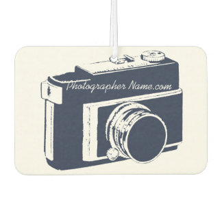 Generic Dark Blue SLR Photography Camera Graphic Air Freshener