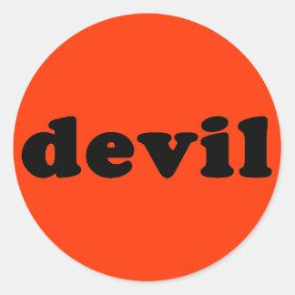 Generic DEVIL T-shirt Classic Round Sticker