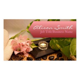 Generic health/spa/massage business card tarjetas de visita