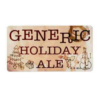 Generic Holiday Ale Label