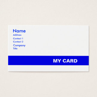 Generic ID Business Card