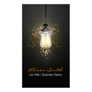 Generic lamp with fireflies business card