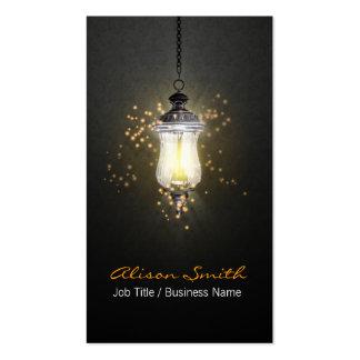 Generic lamp with fireflies business card tarjetas de visita