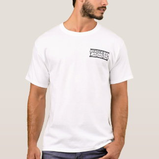 generic logo lines and stars pocket T-Shirt