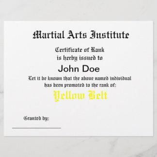 Generic Martial Arts Certificate