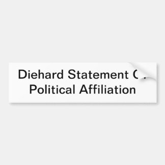 Generic Political Affiliation Bumper Sticker