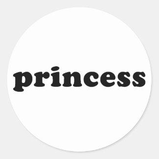 Generic PRINCESS T-shirts Classic Round Sticker