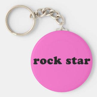 Generic ROCK STAR T shirt Basic Round Button Keychain