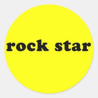 Generic ROCK STAR T shirt Classic Round Sticker