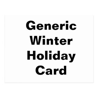 Generic Winter Holiday Card Post Cards