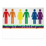 Género del amor no tarjetas postales