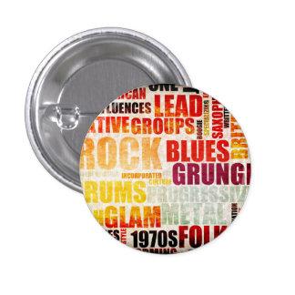 Géneros y tipos de la música popular en Grunge Pin Redondo 2,5 Cm
