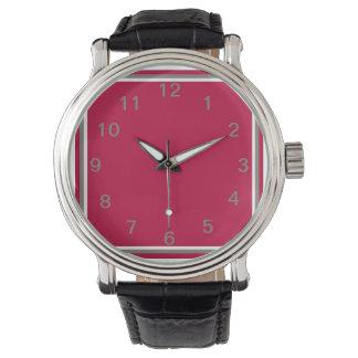 Generosidad carmesí reloj de mano
