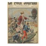 Generosidad de la ciudad de París y de Francia Tarjeta Postal