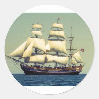 Generosidad del HMS Pegatina Redonda