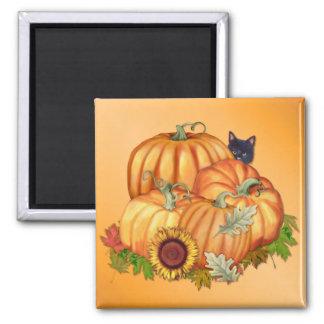 Generosidad del otoño imán cuadrado