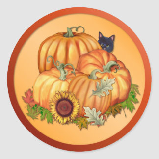 Generosidad del otoño pegatina redonda