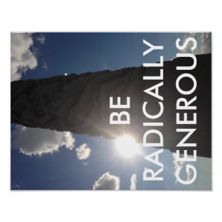 ¡Generosidad del radical de la práctica! Posters