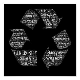 generosity-401403 CAUSES RECYLE FEELINGS ACTIONS M Poster