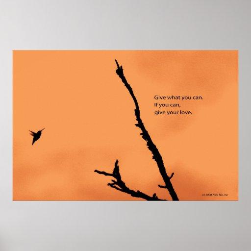 Generosity of spirit. poster