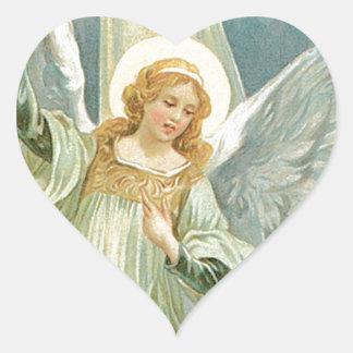 Generous -  Guardian Angel of Generosity Heart Sticker