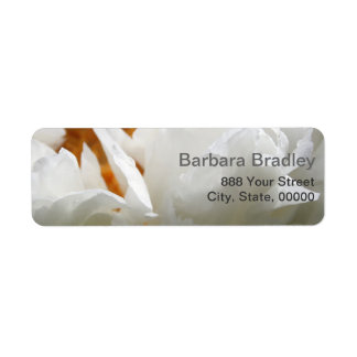 Generous Nature White Peony 2 Floral Photography Label