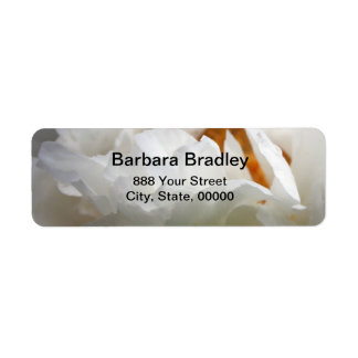 Generous Nature  White Peony 3 Floral Photography Label