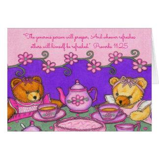 Generous Prosper~Bears Party~Scriptures Card