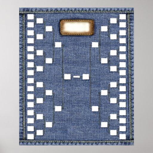 Genes azules: Carta de la pared del árbol de famil Póster