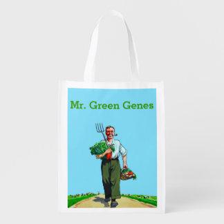 Genes verdes bolsas de la compra