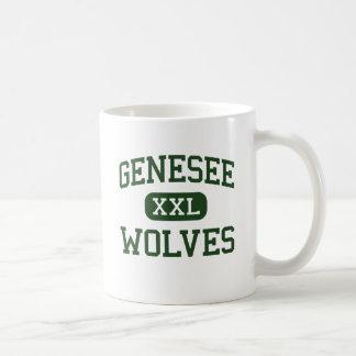 Genesee - lobos - High School secundaria - Genesee Taza Básica Blanca