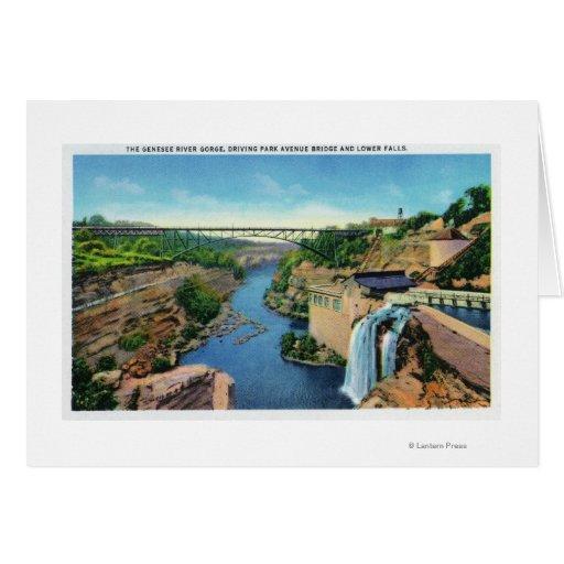 Genesee River Gorge, Park Avenue Bridge Greeting Card