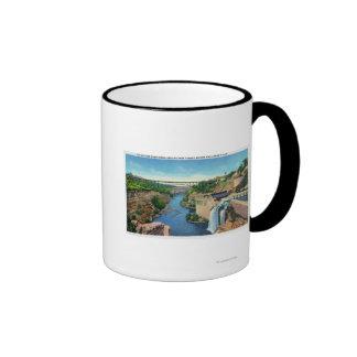 Genesee River Gorge, Park Avenue Bridge Ringer Mug