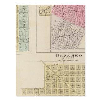 Geneseo, Alton, Little River, Kansas Postcard
