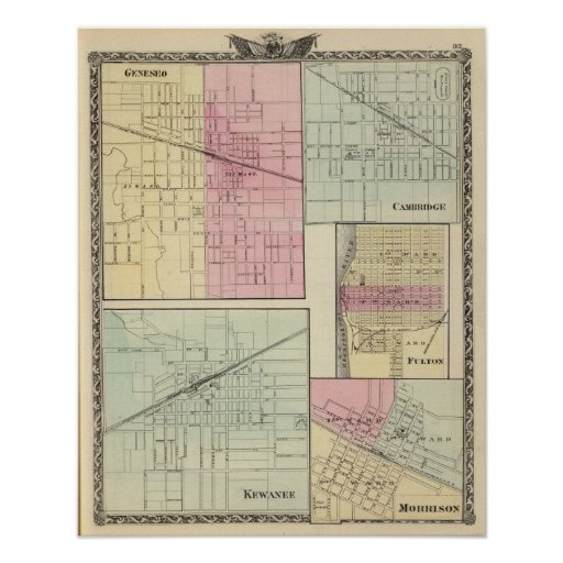Geneseo, Kewanee, Cambridge, Fulton and Morrison Print