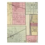 Geneseo, Kewanee, Cambridge, Fulton y Morrison Tarjeta Postal
