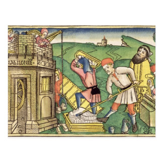 Genesis 11 1-9 Building The Tower of Babel, from t Postcard