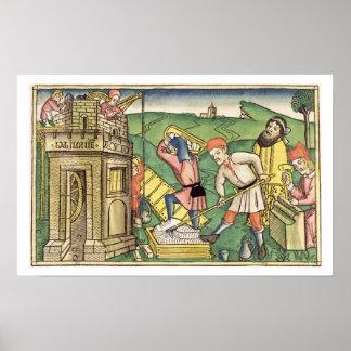 Génesis 11 1-9 que construye la torre de Babel, de Póster